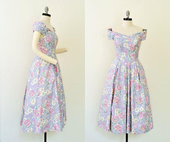 Vintage 1980s Dress // 80s Dress // Laura by BrassGiraffeVintage, $78.00