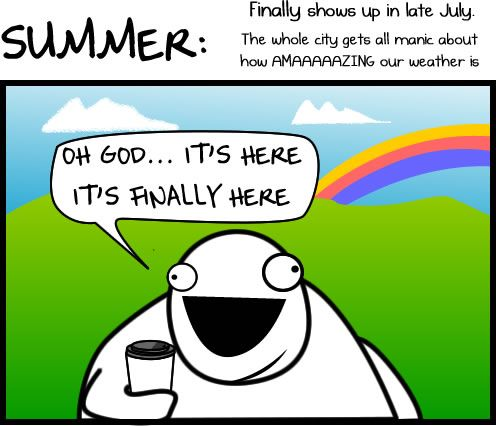 The 4 Seasons of Seattle Weather - The OatmealCoast Seasons, Shorts Comics, Seattle Y, Four Seasons, Beautiful Washington, Washington States, Seattle'S Y, Seattle Weather