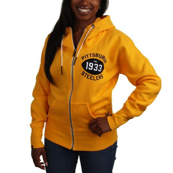 Nike Pittsburgh Steelers Women's S-Series Full Zip Hoodie - Gold - $42.99