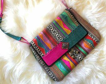 Vintage Woven cotton Bag / Shoulder 70s bag - Multicolor Guatemala Mexican style bag - Ethnic Aztec bag -    Edit Listing  - Etsy