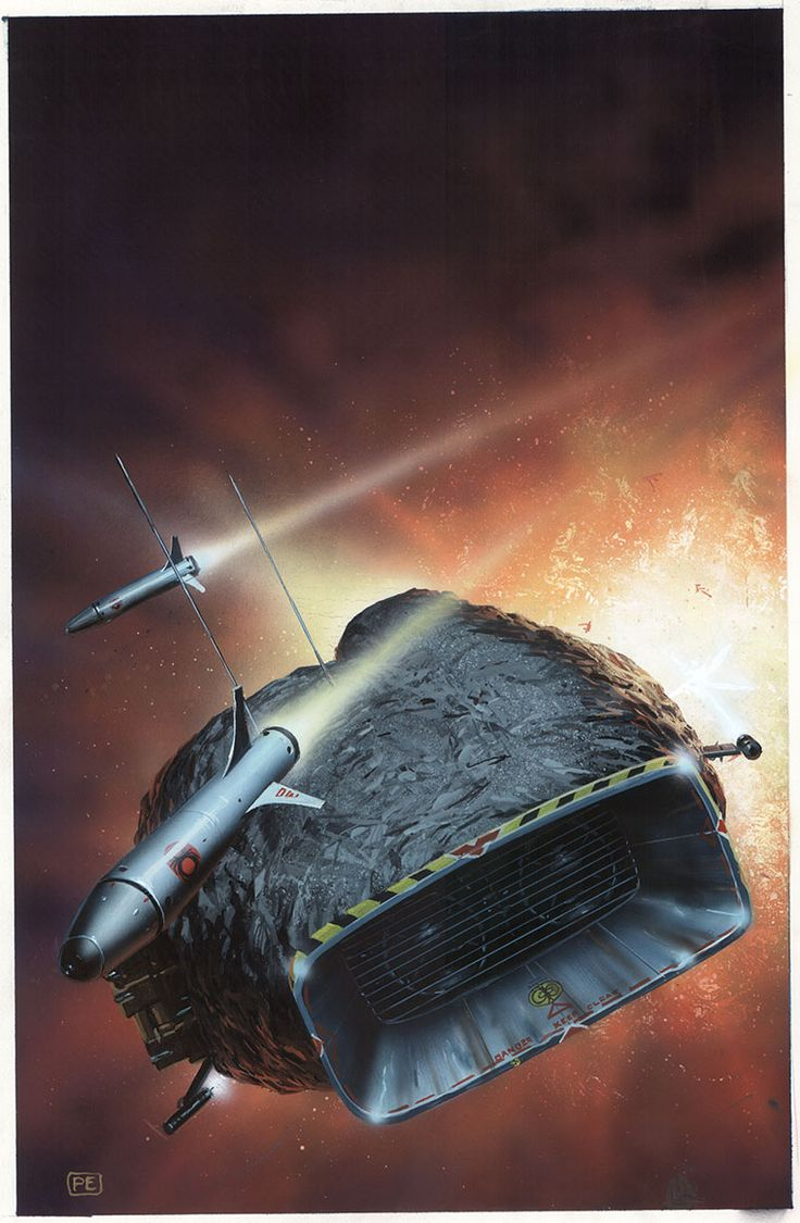 Catfang by Peter Elson, Science Fiction Illustrator