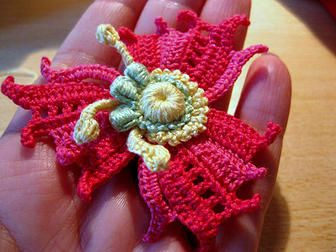 A wonderful flower in #crochet! #Irish_ Crochet #patterns