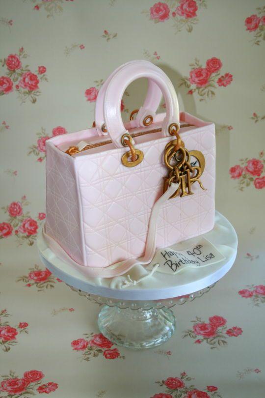 Pink Dior Handbag Cake