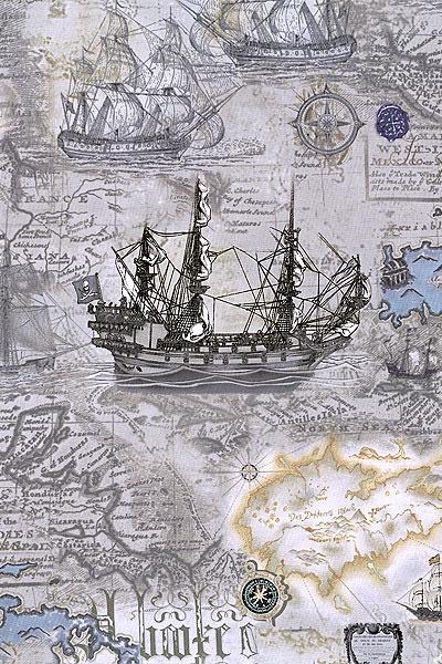 Buried Treasure - Setting Sail - possible old map theme bathroom?