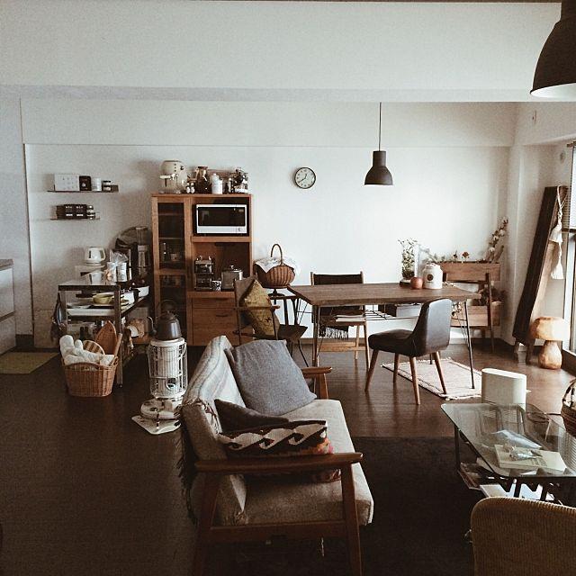 女性で、1LDKのカリモク60/賃貸/男前/ソファ/IKEA/部屋全体…などについてのインテリア実例を紹介。(この写真は 2016-01-10 20:51:05 に共有されました)