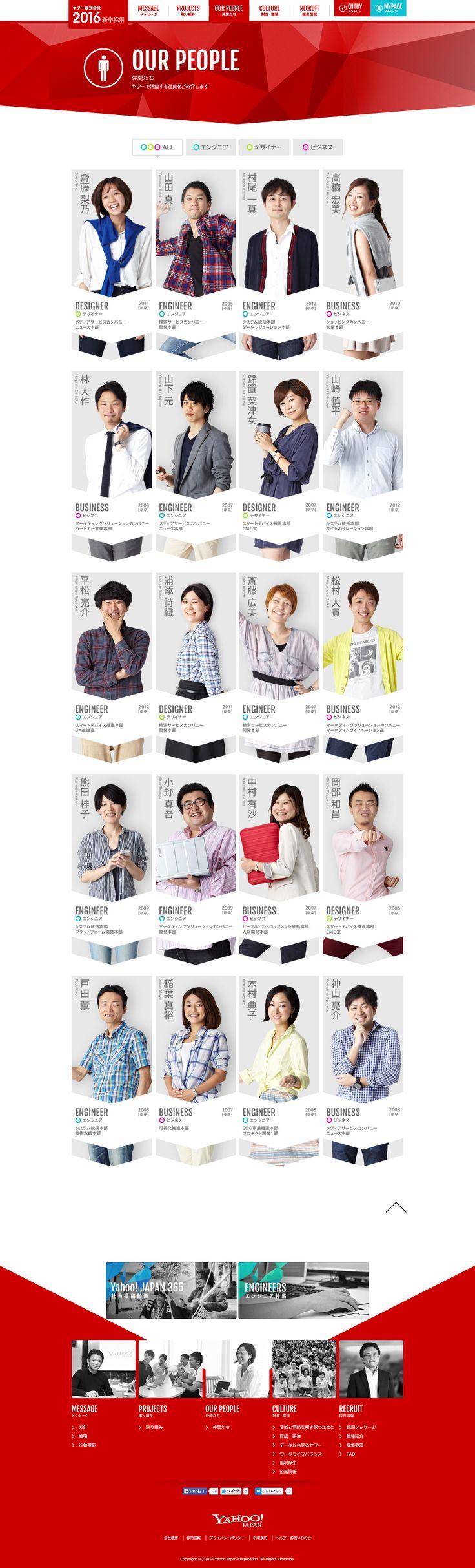 仲間たち - ヤフー株式会社 2016年度新卒採用