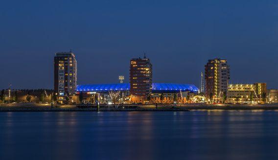 Feyenoord Rotterdam stadium at Night - part three