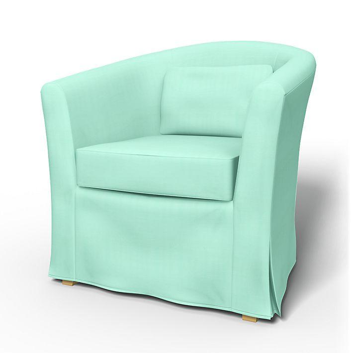 Tullsta, Armchair Covers, Armchair, Regular Fit Using The Fabric Panama  Cotton Aqua