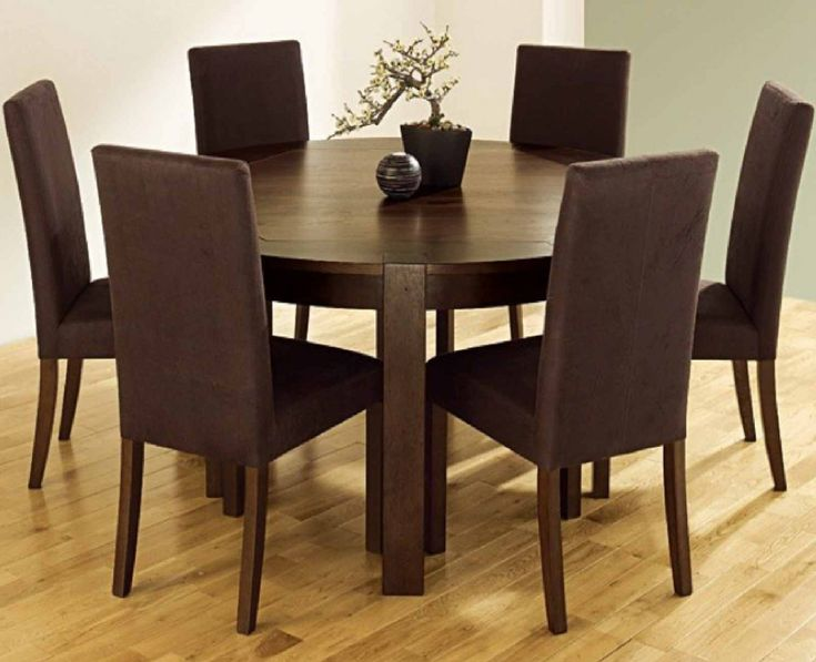 55+ Dark Brown Dining Table and Chairs - Modern European Furniture Check more at http://www.ezeebreathe.com/dark-brown-dining-table-and-chairs/