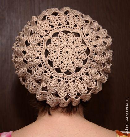 Crochet beret for women. Summer gift for women