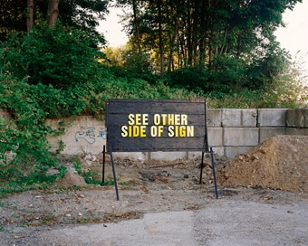 RON TERADA  See Other Side of Sign, 2006 Pigment ink print 44 x 55 inches (112 x 140cm)