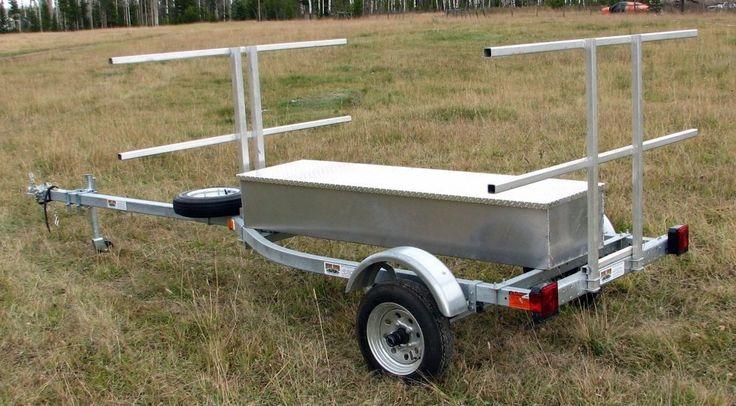 Build A Kayak Trailer Place Galvanized Canoe Kayak Sup