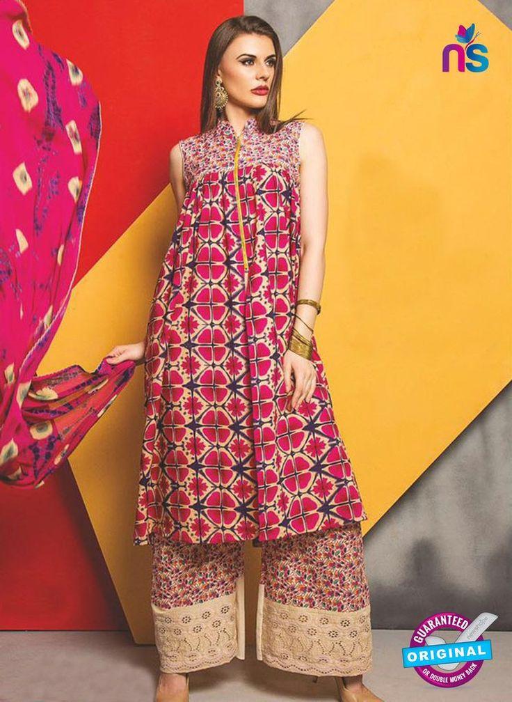 SC 13484 Pink and Multicolor Designer Un-stitched Plazo Suit