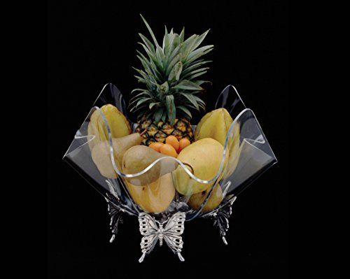 Arthur Court Butterfly Stand with 14-Inch Acrylic Bowl