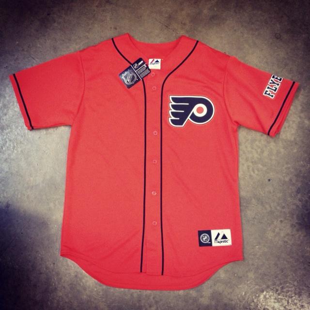 the latest 264ed c4837 flyers baseball jersey