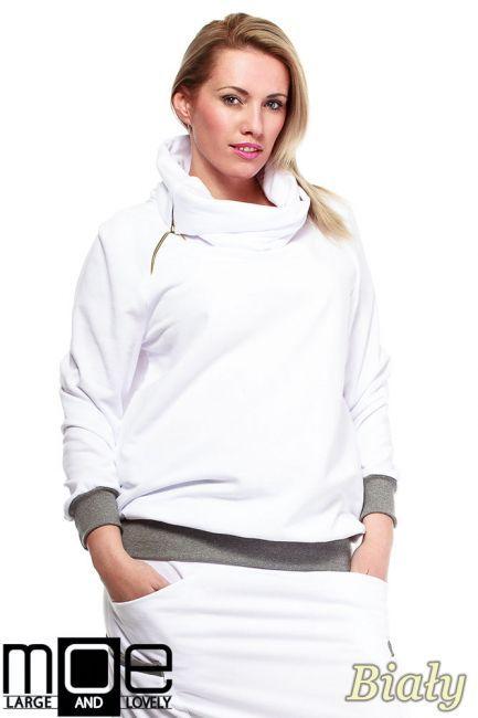 Dresowa, kobieca bluza typu oversize marki MOE.  #cudmoda #moda #styl #ubarnia #odzież #bluzy #clothes #blouses #xxl #plus_size