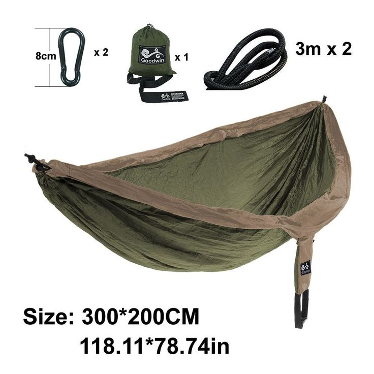 2 Person Outdoor Parachute Hammock Camping Bed