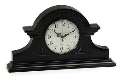Grand and Alluring Black Mantel Clock