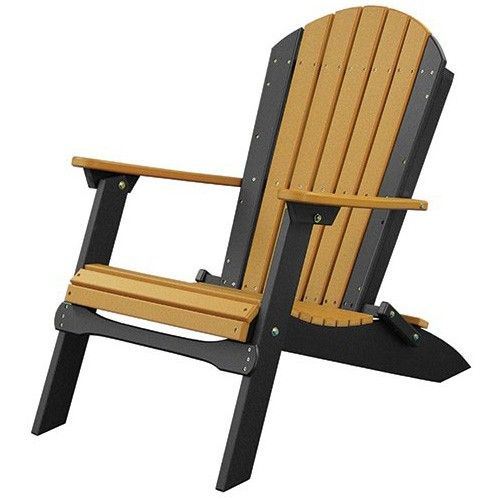 Unique LuxCraft Folding Recycled Plastic Adirondack Chair Kunststoff
