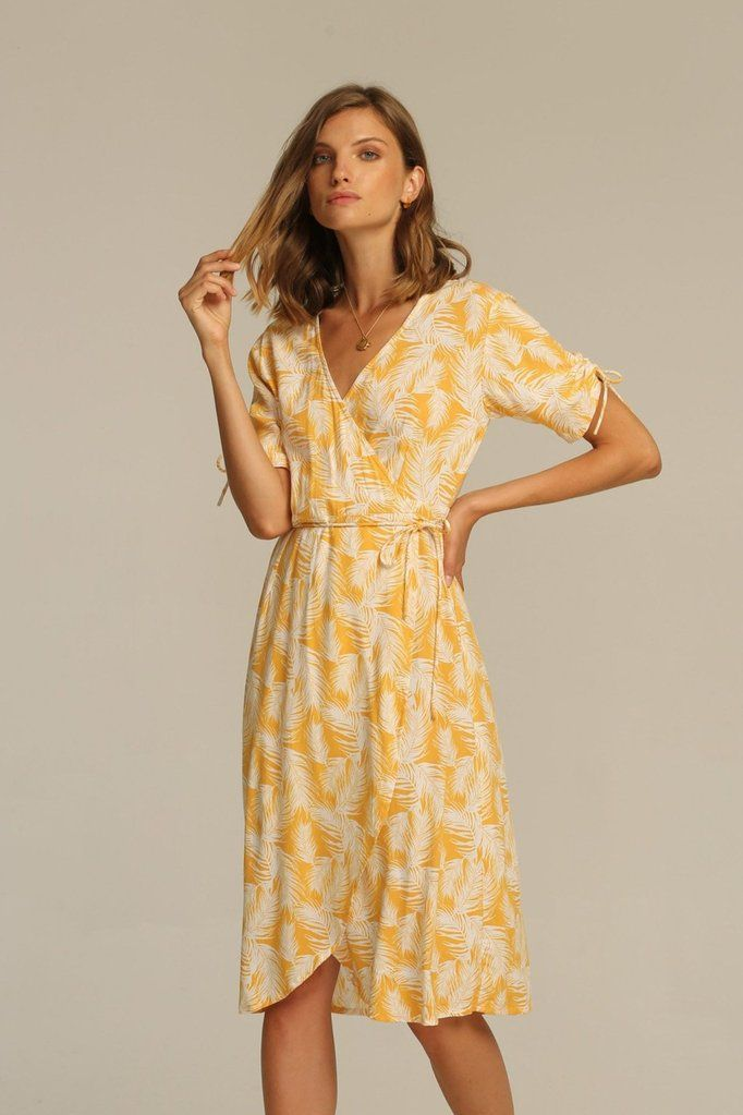 2b745c0a42fa Josey Midi Dress - Honey Palm | Dresses | Dresses, Wrap dress short ...