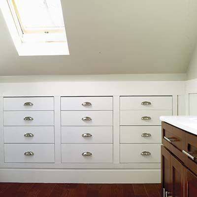 insert chest of drawers into loft eaves storage - Google Search