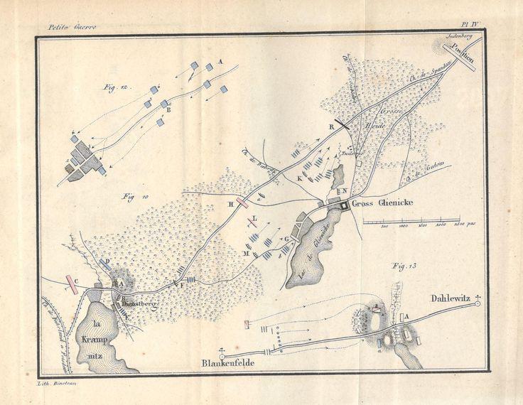 """Source : Decker, """"De la petite guerre"""" (1845), Planche IV, citée par ex. p. 163, pour la fig. 10. Se rapporte au livre second, chap. II, 1.F. Défense d'objets locaux - Villages, petites villes."""