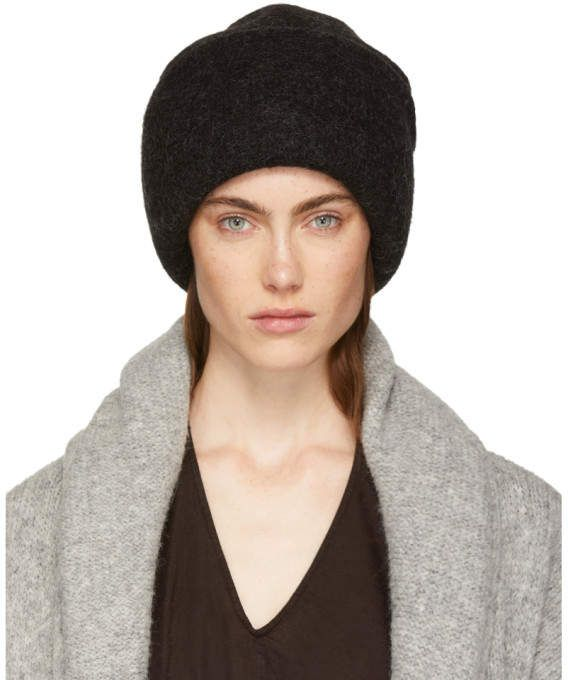 3f8e500fdbc LAUREN MANOOGIAN Black Alpaca Carpenter Beanie