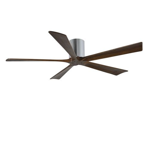 $320 - Irene-H Five Blade Polished Chrome 60-Inch Hugger-Style Ceiling Fan