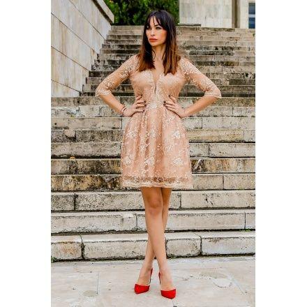 """Rochie """"Golden Lace"""" - P.S. A"""