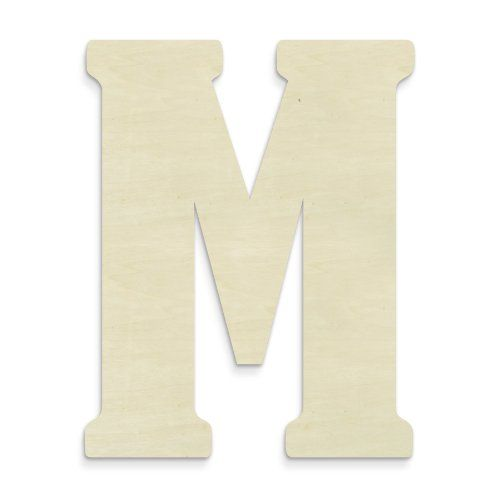 UNFINISHEDWOODCO 23-Inch Unfinished Wood Letter, Large, Letter M