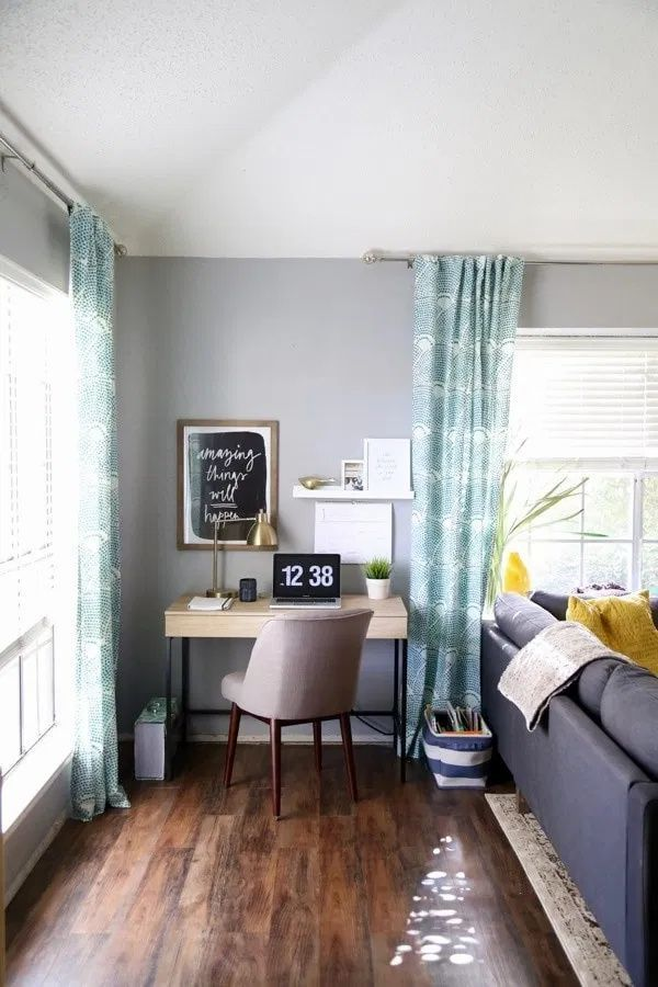 72 Beautiful Nook Design Tips And Ideas For A Home Office Living Room Cozy In 2020 Desk In Living Room Bedroom Furniture Placement Living Room Furniture Arrangement #nook #ideas #living #room