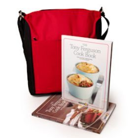 The perfect gift for those who enjoy cooking low GI recipes with Tony Ferguson's Cook Book. Includes an insulated thermal shoulder bag.