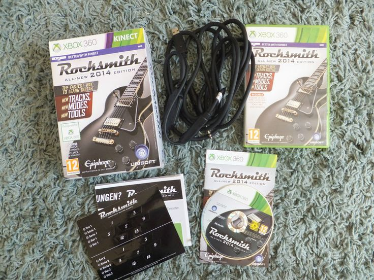 XBOX 360 Rocksmith 2014 WITH CABLE IN BOX - GREAT FATHERS DAY GIFT