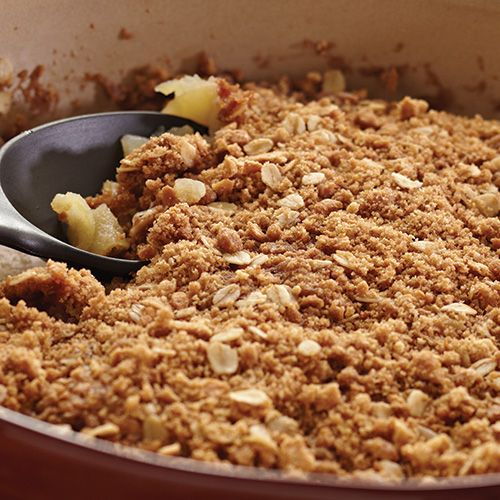 Mom's Apple Crisp in half the time using the Pampered Chef Covered Baking Dish