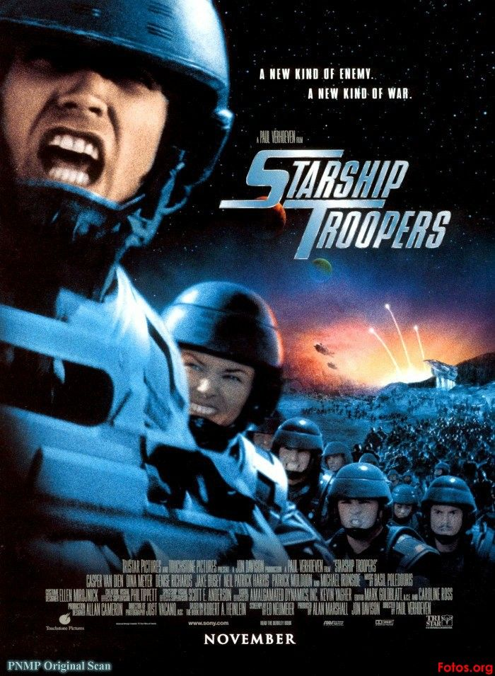 As a satire on the excessive use of force by mankind, STARSHIP TROOPERS plays like a children's film chock with enough violence and gore for a blood lusting sadist. Description from aintitcool.com. I searched for this on bing.com/images