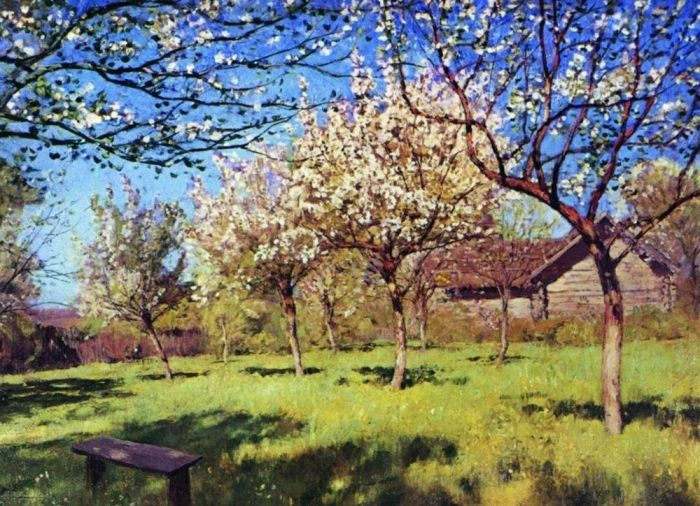 Левитан Исаак Ильич. Цветущие яблони 3