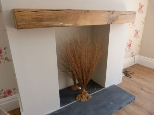 SOLID OAK BEAM MANTLE FIREPLACE RECLAIMED AIR DRIED 3FT LONG