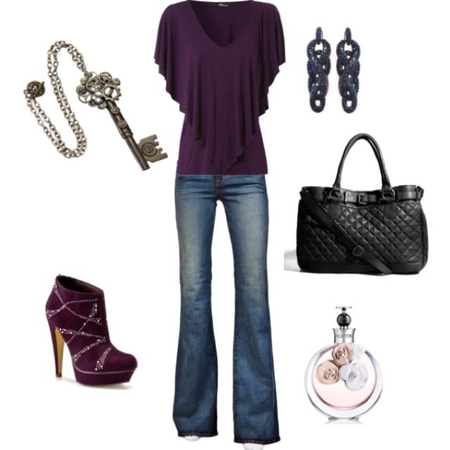 PurpleShoes, Fashion, Purple Outfit, Style, Shirts, Heels, Cute Outfit, Boots, Dreams Closets