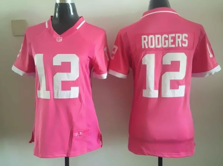 Nike Packers Aaron Rodgers Pink Women's Stitched NFL Elite Bubble Gum Jersey  And Demaryius Thomas 88 jersey