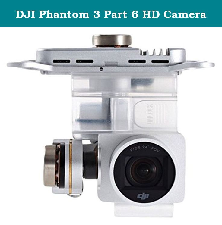 DJI Phantom 3 Part 6 HD Camera. Creativity is at the heart of every dream. Every idea, every groundbreaking leap that changes our world starts with the vision of talented creators. At DJI, we give these creators the tools they need to bring their ideas to life. Our platforms empower them to capture images that were once out of reach. Our flying and camera stabilization systems redefine camera placement and motion. Amazing photos and video, treasured personal memories, and high-end...