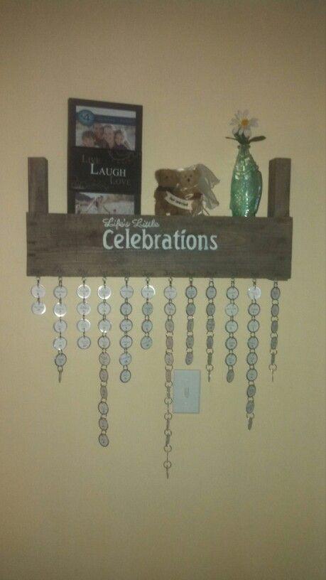 Combination pallet shelf and a birthday calendar ....