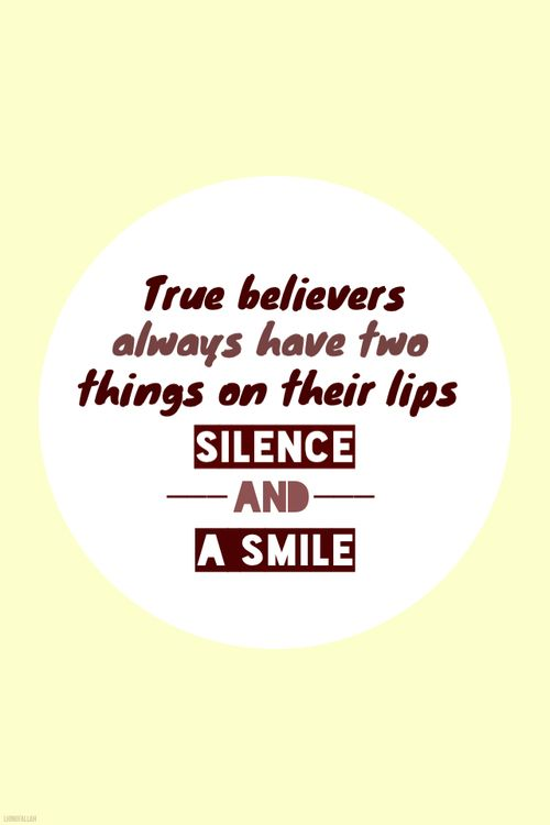 2 things on the belivers lips