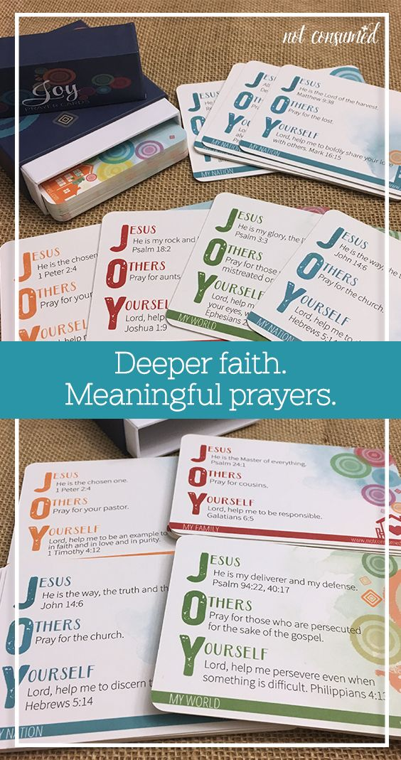 Helping our kids have more meaningful prayers can be a challenge. These cards offer children Scripture-filled prompts to guide their prayers and help them go deeper.