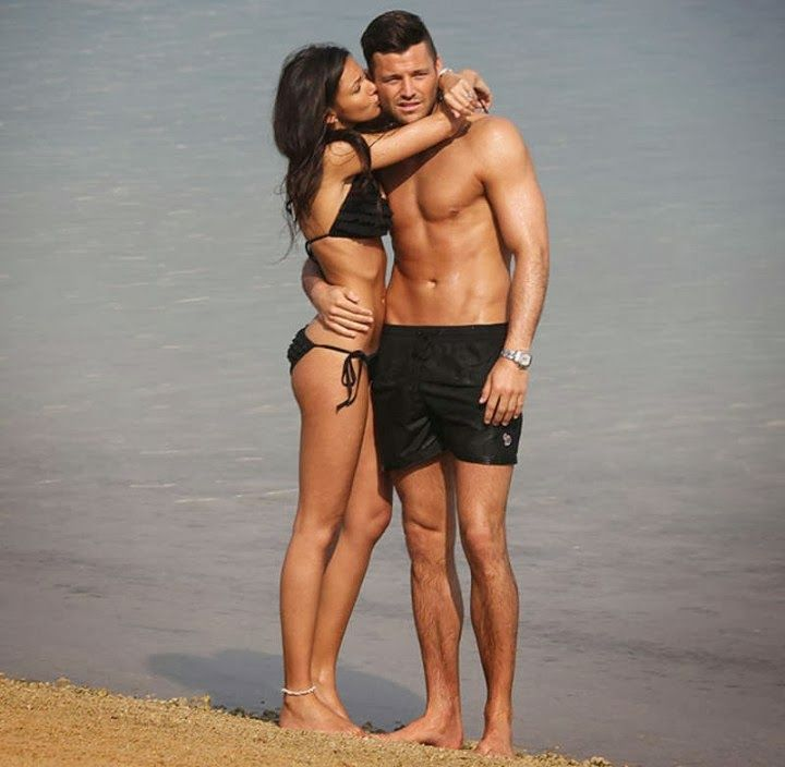 Michelle Keegan and Mark Wright show PDA at Dubai beach