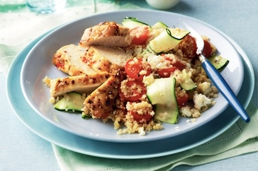 One of my favourites.  Keep summer cooking easy with this clever gluten-free chicken and quinoa salad.