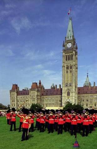 """Ottawa and the """"trooping of the colour"""" that my father participated in (so proud of him)"""