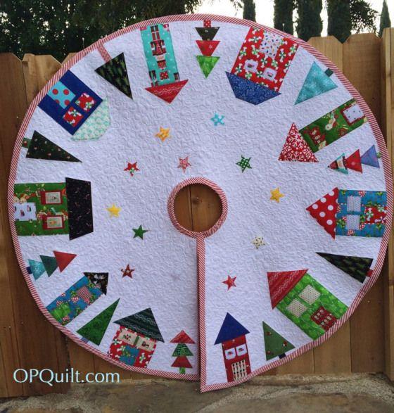 Christmas Tree Skirt 2014 from OPQuilt.com, via a Fat Quarterly 2013 Holiday Design