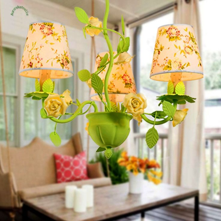 293.57$  Buy now - http://alij18.worldwells.pw/go.php?t=32789509391 - Pendant Lights Lamp 8020 Garden Flowers Light and Roses Restaurant Lamps  Indoor Lighting Explosion of Fresh Green Living Room
