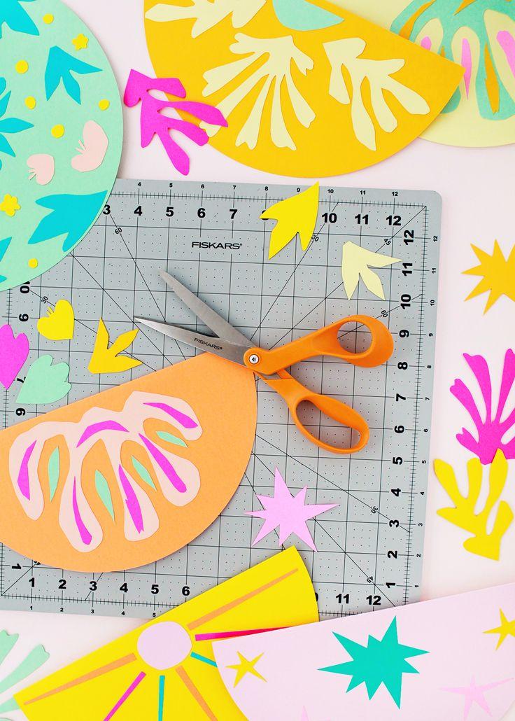 DIY Matisse-Inspired Cut Paper Garland
