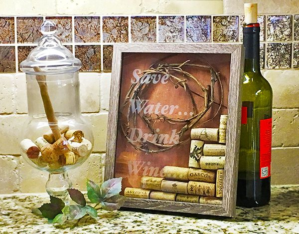 Life in the Craft Lane: 3D Shadow Box Wine Frame